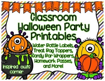 Classroom Halloween Party Printables {Monster Themed}