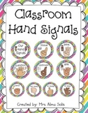 Hand Signals: Classroom Management (Editable)