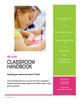 Classroom Handbook (Editable)