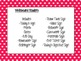 Classroom Labels with Pink and Polka Dot Background (Editable)