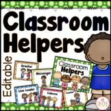 Classroom Helpers Chart - Editable {Dots Classroom Set}