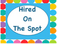 Jobs/ Helpers Blue Dots