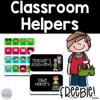 Classroom Helpers FREEBIE!