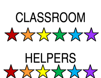 Classroom Helpers Header - Star Theme