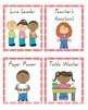 Classroom Helpers Job Chart, Red Gingham