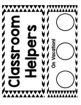 Classroom Helpers (Jobs)