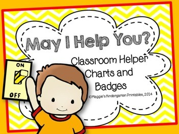 Classroom Helpers Posters and Badge Inserts