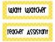 Classroom Helpers Yellow Polka Dot