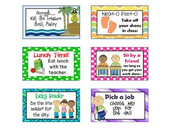 Classroom Incentive Coupons