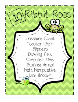 Classroom Incentive Poster