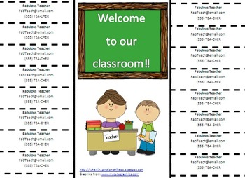 Classroom Information Tear-offs