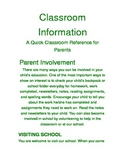 Classroom Information