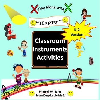 """Classroom Instrument Play Along to """"Happy"""" Pharrell Willia"""