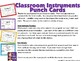 Classroom Instruments Punch Cards
