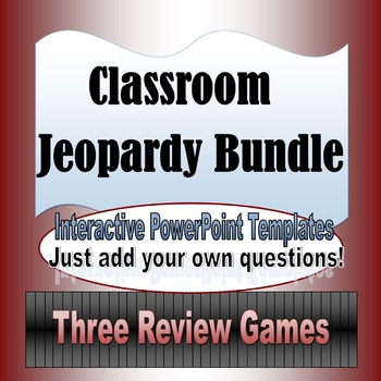 Classroom Jeopardy Template Bundle