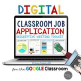 Classroom Job Application & Descriptive Writing Toolkit fo