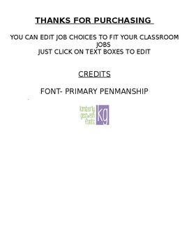 Classroom Job Application *Editable*
