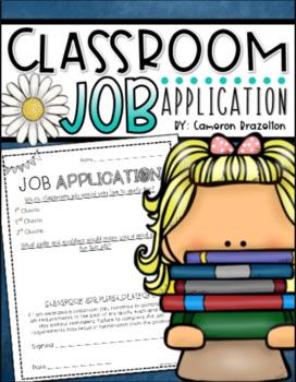 Classroom Job Application Freebie