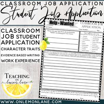 Classroom Job Application (Help Wanted) {Classroom Economy}
