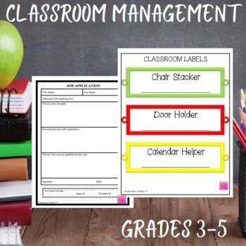 Classroom Job Application and Labels