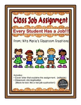 Classroom Job Assignment