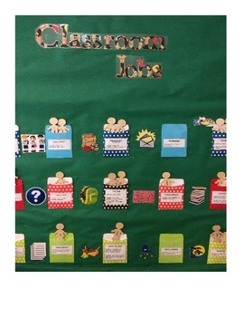 Classroom Job Bulletin Board