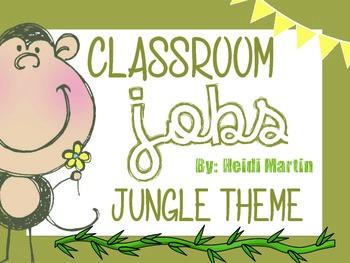 Classroom Job Cards ~ Jungle Theme
