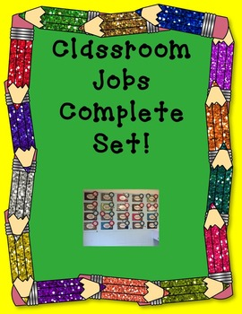 Classroom Job Chart!  A complete job chart set for primary