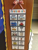 Classroom Job Clip Chart with pictures- Black and White Po