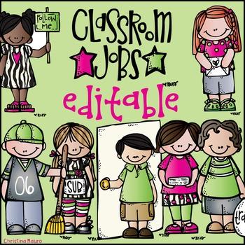 Classroom Job {Editable}