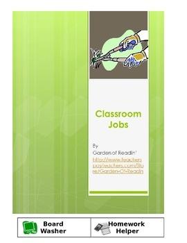 Classroom Job Labels Printable Poster