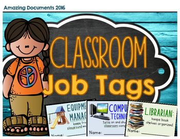 Classroom Job Tags and Application Form