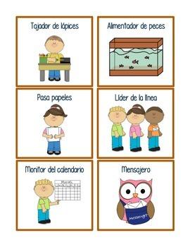 Classroom Jobs in Spanish & English!