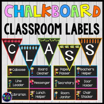 Editable Labels Classroom Jobs