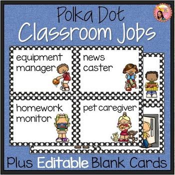 Classroom Helpers - 44 Illustrated Job Cards - Plus Editab