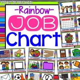 Bright, Rainbow EDITABLE Classroom Jobs