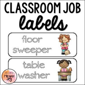 Classroom Job Board Labels