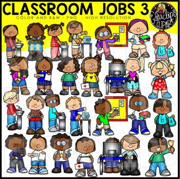 Classroom Jobs 3 Clip Art Bundle {Educlips Clipart}