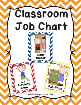 Classroom Jobs - Multi-Colored Chevron Theme