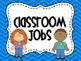 Classroom Jobs- Blue Chevron