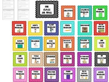 Classroom Jobs Board- Over 40 jobs, header and application sheet