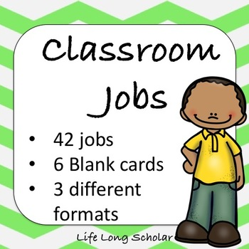 Classroom Jobs (C.D. Aligned) Green Background