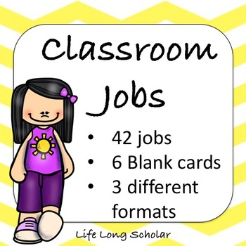 Classroom Jobs (C.D. Aligned) Yellow Backgrounds