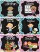 Classroom Jobs {Chalkboard Chevron Polka Dots}