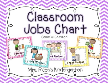 Classroom Jobs Chart Bright Chevron 833634 on Scrappin Doodles Clipart Weather