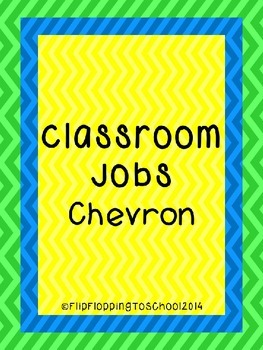 Classroom Jobs Chevron Cards Printable