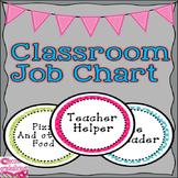Cheetah Print and Polka Dots Classroom Decor Jobs Chart