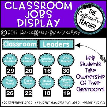 Classroom Jobs Display