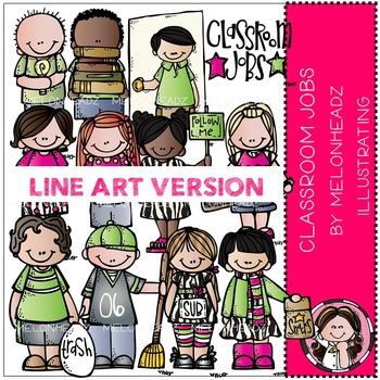 Melonheadz: Classroom Jobs clip art - LINE ART