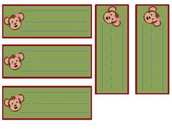 Classroom Jobs Monkey Theme